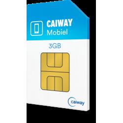 Caiway Mobiel 3 GB + 120 min + 25 sms...